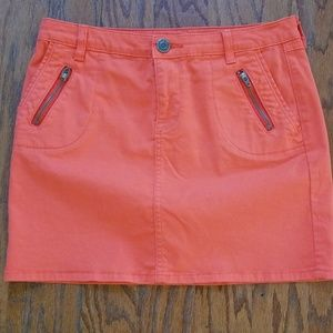 Gap Orange Stretch Skirt